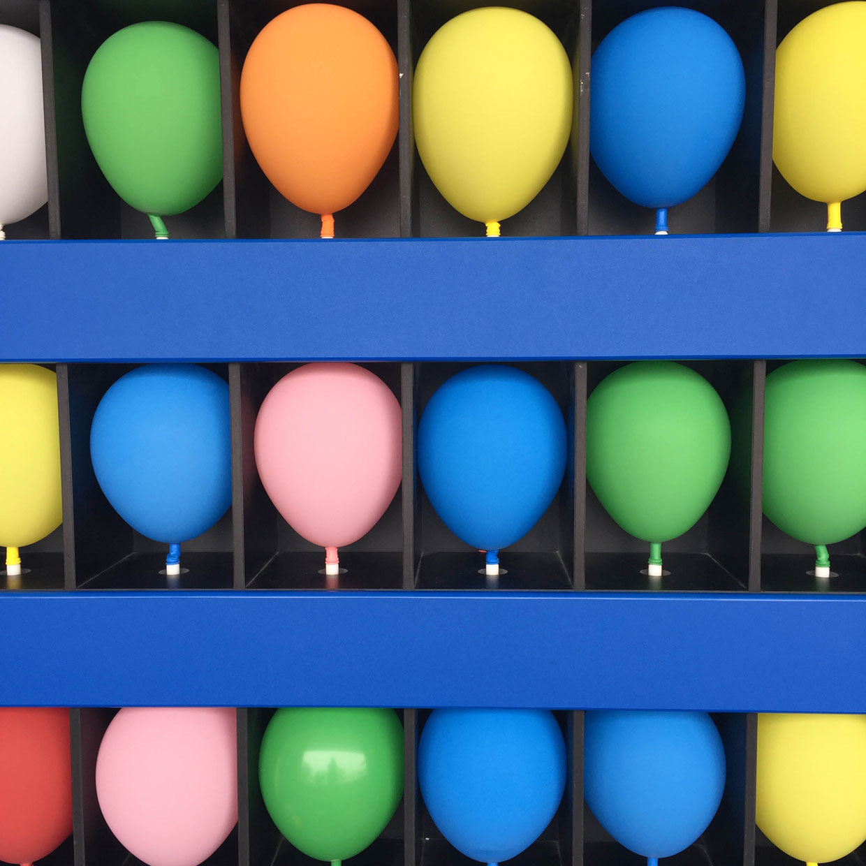 Colorful balloons in a game of chance and luck. Win a prize
