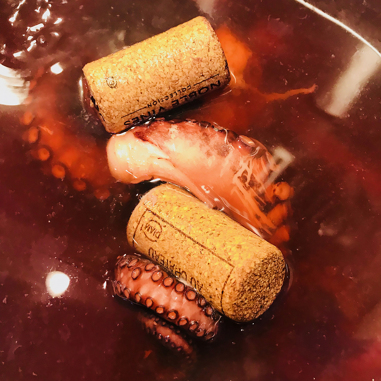 Octopus and corks