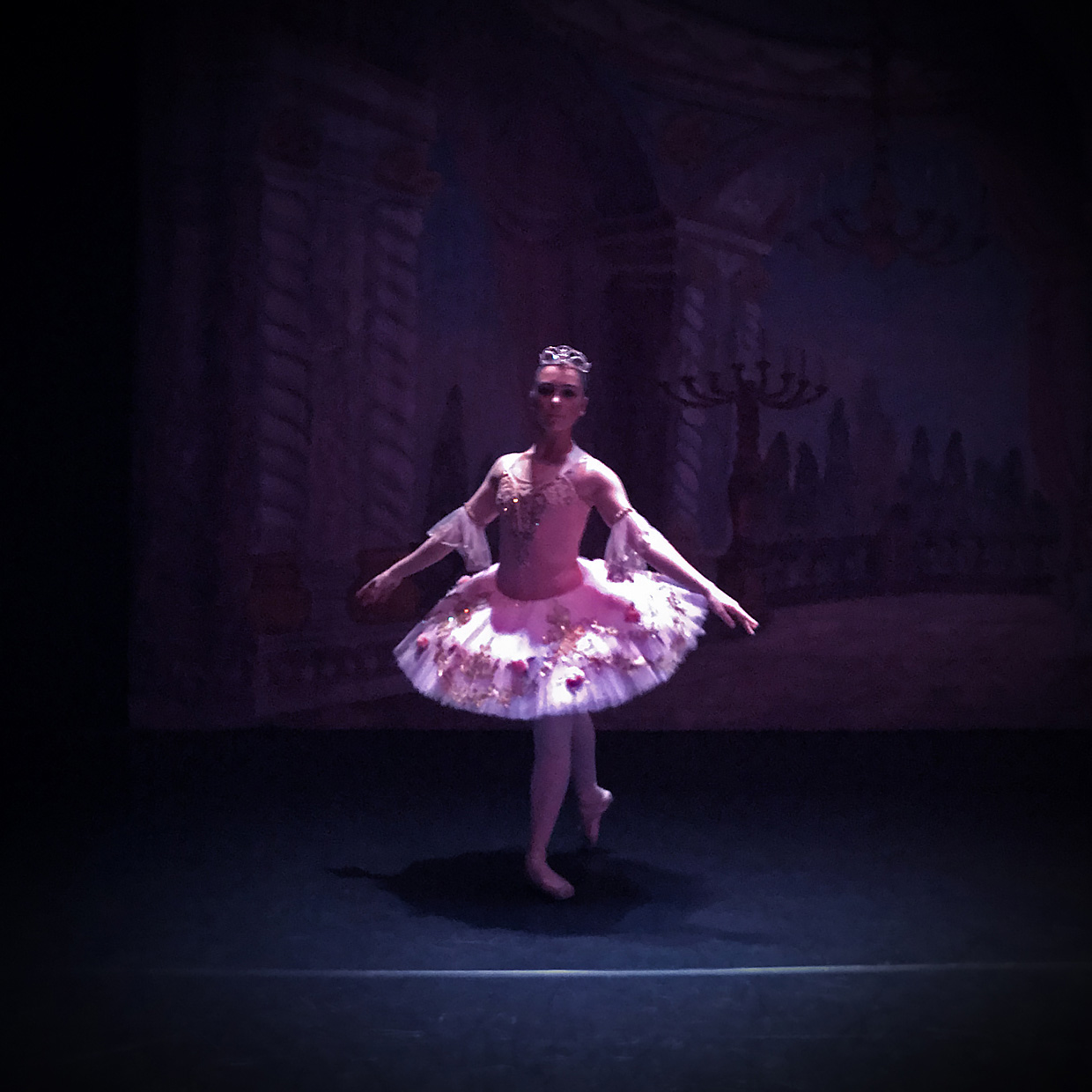 Ballerina back stage