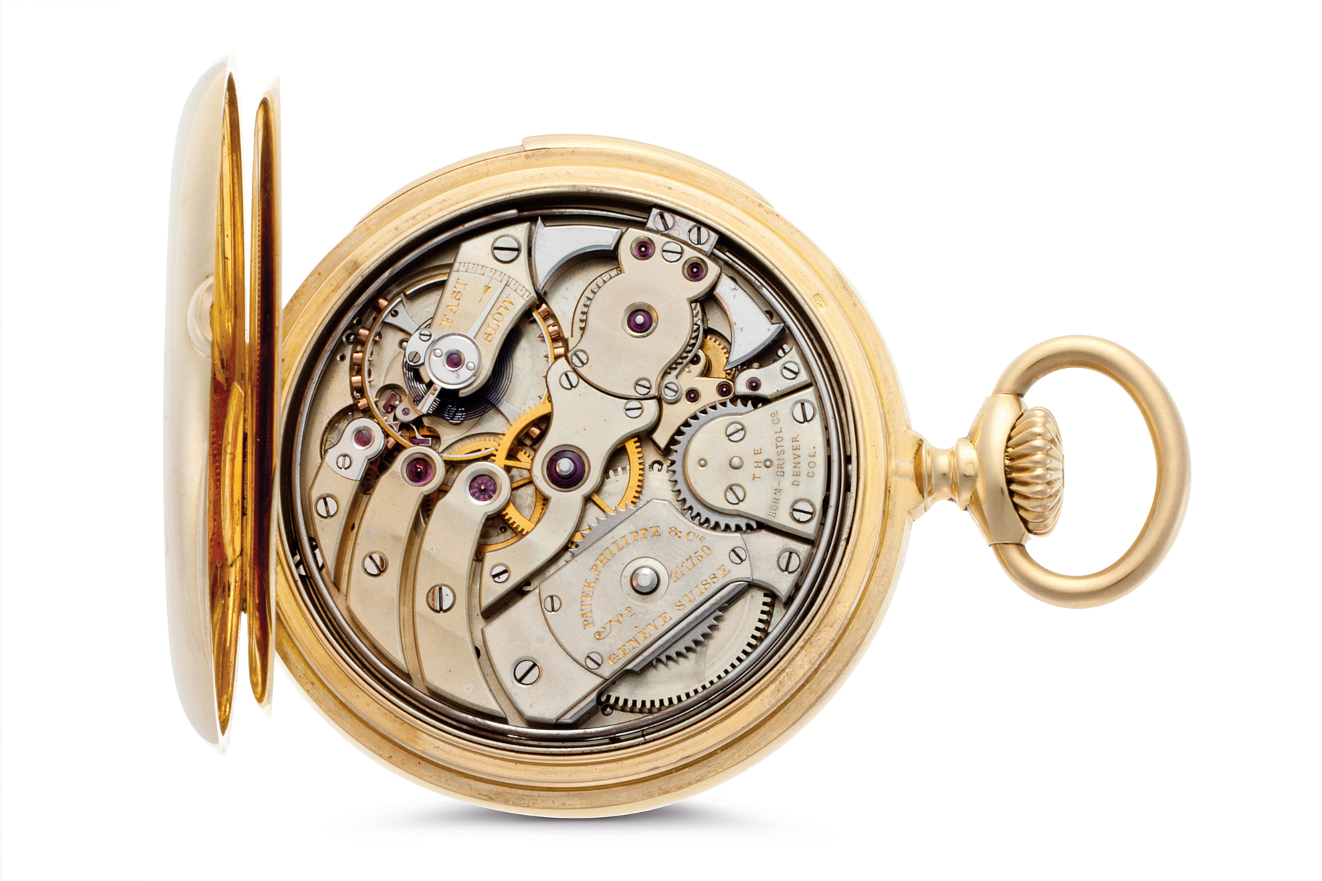 A beautiful gold Patek Philippe pocket watch made in Geneva Switzerland
